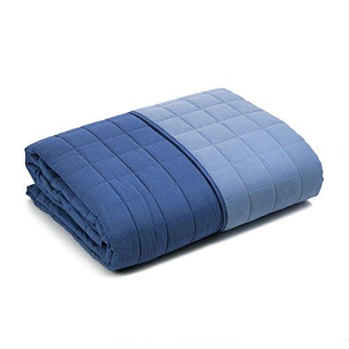 Caleffi Gesteppte Tagesdecke für französisches Bett, wendbar 160 x 190 cm Kornblumenblau
