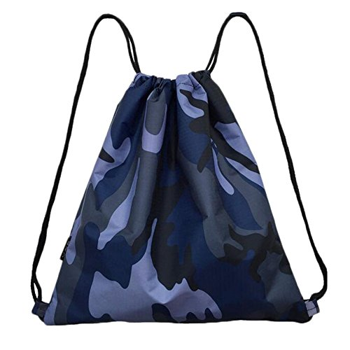 Black Temptation Bleu Camouflage Drawstring randonnée, Sacs de Voyage Sac à Dos