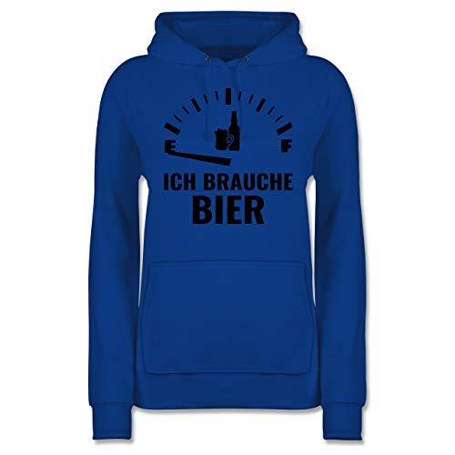 Sprüche - Ich Brauche Bier - schwarz - XS - Royalblau - Oktoberfest - JH001F - Damen Hoodie und Kapuzenpullover für Frauen