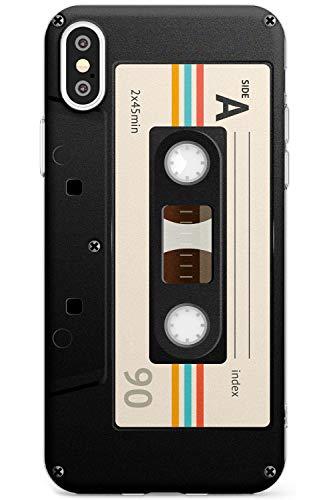 Retro Kassette - Creme Schlank Handykette Hülle für iPhone X / XS, for iPhone 10 | Clear Silikon TPU Schutz Leicht Ultra dünn Hülle Muster Printed | Mixtape Jahrgang Jahrgang Musik Alte Schule