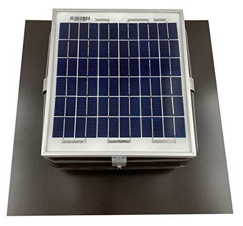 Solar Mega RoofBlaster Roof Vent/Fan Ventilation Solutions (Brown)   Solar Roof Vent   Solar Attic Vent   Solar Roof Attic Fan