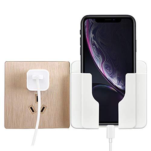 GRKJGytech Handyhalter Wand Halterung Ladekabel Ständer für Handys Halter Fernbedienung, 99mm* 86mm*30mm, Weiß