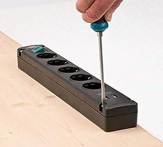 steckdosenleiste mit usb Brennenstuhl Bremounta Steckdosenleiste 5-fach mit USB-Ladefunktion Mehrfachsteckdose mit 90 Grad Steckdosen, Steckerleiste mit Befestigungsmöglichkeit und 3m Kabel schwarz