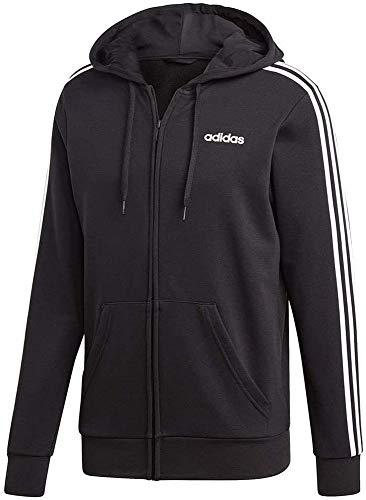 adidas Herren E 3S FZ FT Sweatshirt, medium Grey Heather/Black, 2XL
