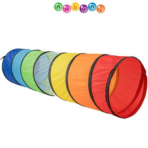 NUBUNI Tunnel Bambini XL 180 cm. : Tunnel per Bambini Psicomotricita Materiale : Tenda Tunnel Bambini : Tubo Bambini : Tunnel Tubo : Gioco Bambini : Giochi per Natale : Giochi Psicomotricita