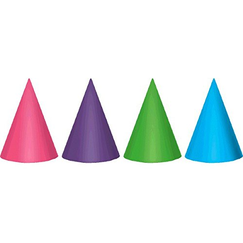 Foil Cone Party Hats | Purple & Teal Collection | Party Accessory