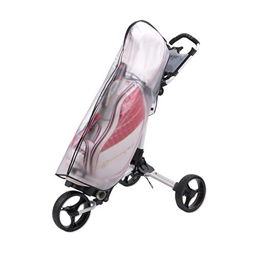 of paragon golf carts HOW TRUE Golf Bag Rain Cover Waterproof PVC Golf Bag Rain Protection Cover with Hood for Golf Push Carts
