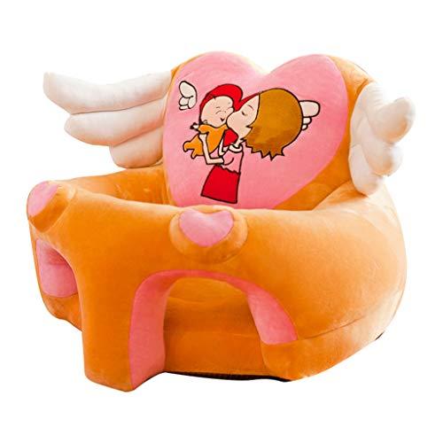 Fenteer Baby Sitzstuhl Bezug Sitzsack Hussen Überzug Überwurf Stretchbezug Stretchhussen - Kamel