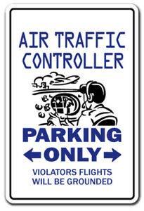 BDTS nieuwe luchtverkeersleider parkeersticker controle militair vliegtuig vliegende metalen teken 8x12 inch