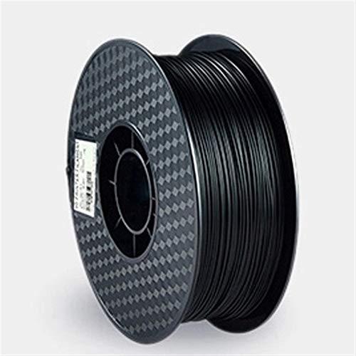 Auartmetion 1pc 3D-Drucker Filaments 3D-Drucker Kunststoffdraht 1.75mm PLA 250g / Rolle 3D-Druckmaterial Maßgenauigkeit (Farbe : Schwarz)