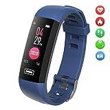 TEZER Fitness Tracker Herren Damen Smartwatch Fitness Armband mit Schrittzähler Pulsmesser Schlafanalyse Kalorienzähler Wasserdicht IP67 Sportuhr Fitness Uhr für Huawei IOS Android