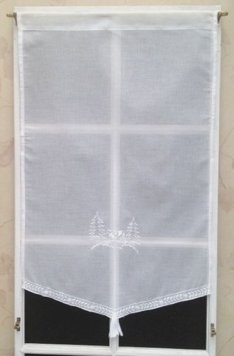 Rido&Co Store Polyester Blanc Brodé 55x90 cm Motif Vache