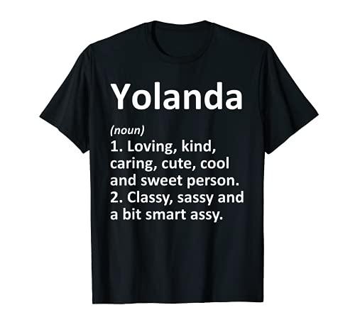 YOLANDA Definición personalizada divertida idea de regalo de cumpleaños Camiseta