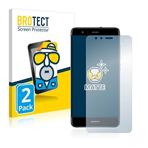 BROTECT 2X Entspiegelungs-Schutzfolie kompatibel mit Huawei P10 Lite Displayschutz-Folie Matt, Anti-Reflex, Anti-Fingerprint