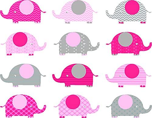 Kit de Pintura de Diamante 5D,Patrón de elefante lindo rosa bebé,Bordado Pinturas Fotos Bricolaje Artesanía para la Decor de la Pared del Hogar,16' x 12'