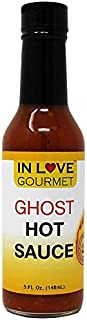 In Love Gourmet Ghost Pepper Hot Sauce 5 fl. oz. Bhut Jolokia Pepper Sauce Super Hot Sauce Massive Flavor