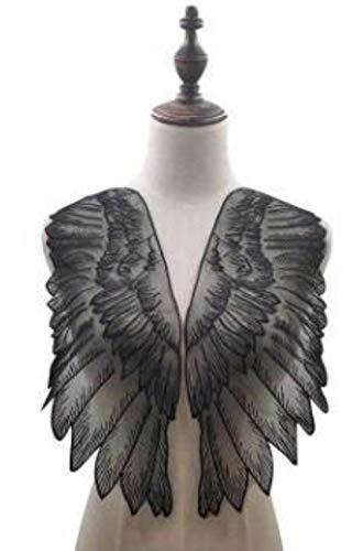 Nuevo bordado de algodón negro y blanco, para manualidades, con encaje, cuello de tela, costura, tul, bordado, cinta, recorte, guipure, decoración, vestido