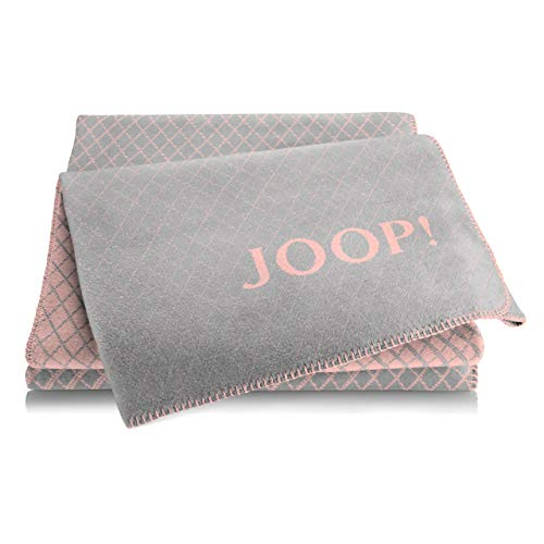 Joop! Wohndecke Diamond | Rosé-Graphit - 150 x 200
