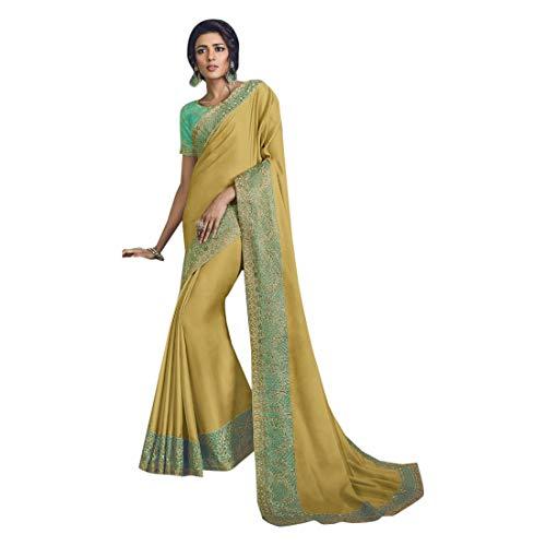 ETHNIC EMPORIUM Damen Kotta Silk Stilvolle Partei-Festival Saree Zeremonie Zari Border Sari Indische Seidenbluse Formal Women Black Friday 7276 43481 Wie in Bild gezeigt,