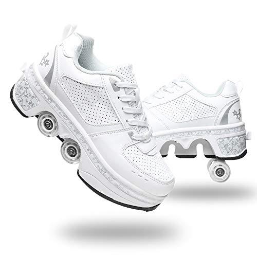 Scarpe con deformazione Multifunzionale Quad Skate Pattini a rotelle Pattinaggio Calzature Sportive...