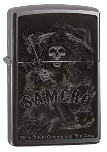Zippo Classic Lighter-Sons of Anarchy Samcro Feuerzeug, Messing, Individual Design, Original Pocketsize
