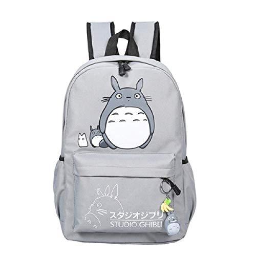LEOCEE Belle Totoro Pokemon toile sacs à dos étudiant sac d'école dessin animé impression sac à dos voyage Pack sac pour ordinateur portable grand sac à dos solide