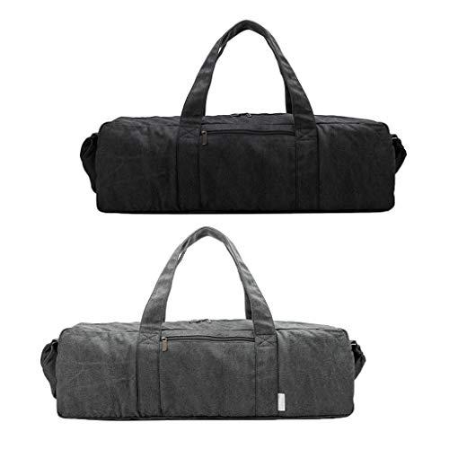 freneci 2X Lienzo Sólido Bolsa de Esterilla de Yoga Cremallera Ejercicio Yoga Gym Essentials Bolsa Portadora