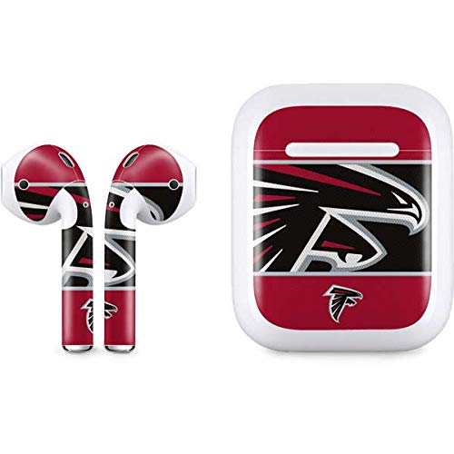Skinit Decal Audio Skin for Apple AirPods with Lightning Charging Case - Officially Licensed NFL Atlanta Falcons Zone Block Design