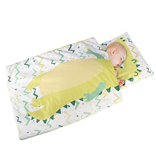 of blanket nap mats Beacon Pet Daycare NapMat Lightweight and Soft KidNappingMatswith Zipper for 0-3 Years Preschool Girls Boys Toddlers Kindergarten Kids SlumberBag (35