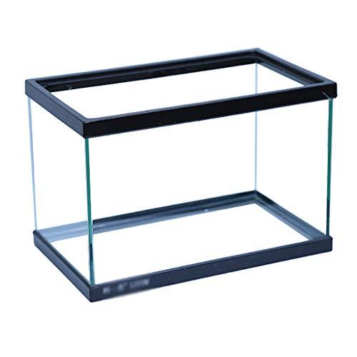 XLSQW Aquarium-Fisch-Behälter-Reptil-Habitat Terrapin Behälter Glass Ökologie Turtle Habitat mit seitlichem Drainage, für Kinderzimmer Office Home (ohne Zubehör),A