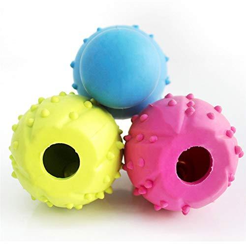 chongwan Pet Supply Gummi Bowling Form Hund Interaktive Backenzähne Sauber Kauen Spielzeug Für Kleine Hunde