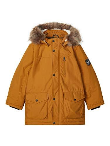 NAME IT Jungen NKMMIBIS Parka Jacket PB Jacke, Golden Brown, 128