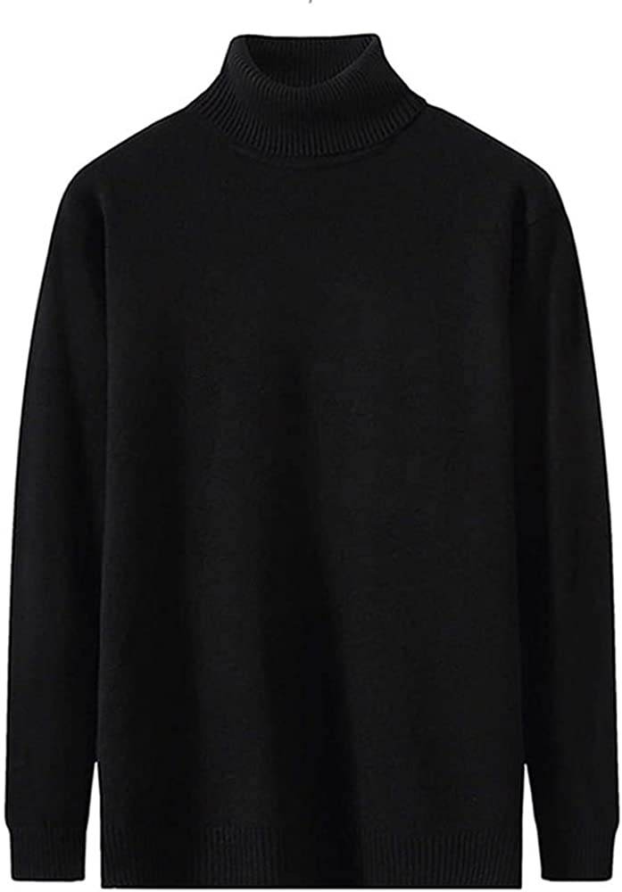 NP Men's Casual Color Collar Long Sleeve Knitted Sweater Autumn Clothing Black
