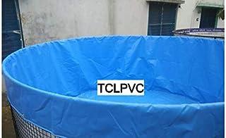 Biofloc Fish Farming Tank Round Pond Tarpaulin2 Mtr 5000 LTR for Fishing Tank Business by TCLPVC
