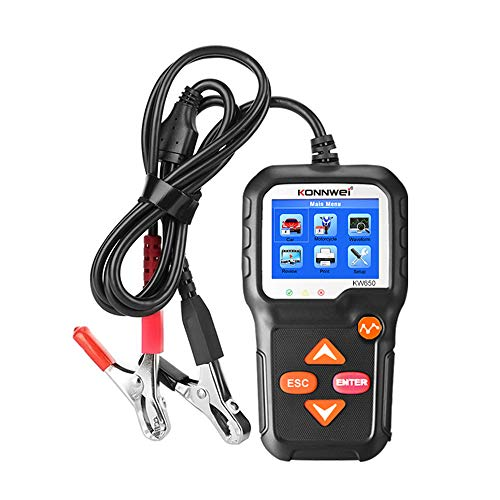 Tickas Autobatterietester,Autobatterietester 12V Autobatterieladetester an Kurbelsystem und Ladesystem Diagnose-Tester Batterietester Automobil für PKW/SUV/Light Trucks