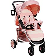 Stylish ultra-modern pushchair, padded removable front bar, height adjustable handle, hood includes storage pocket Extendable 3 position canopy, multi-position one handed adjustable backrest, great on the go being lightweight but strong, lockable fro...