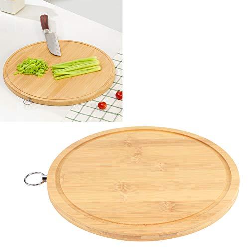 Tabla de cortar íntima, experiencia de cocina con diseño de canalón de bambú 24,5 x 1,1 cm para uso en casa restaurante cocina