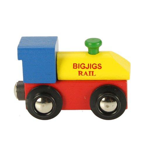 Bigjigs Rail - Züge für Modelleisenbahnen in Mehrfarbig, Größe Lokomotive