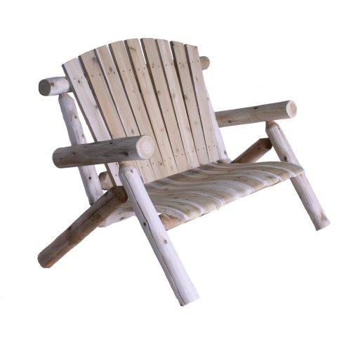 Hot Sale Lakeland Mills 4-Foot Cedar Log Love Seat, Natural
