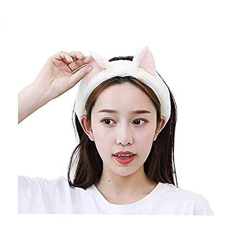 HUIMEI ヘアバンド レデイース 洗顔用 猫耳 ふわふわ 3色セット 吸水 かわいい 伸縮性あり お風呂 洗顔 旅行 外出 化粧 スポーツ