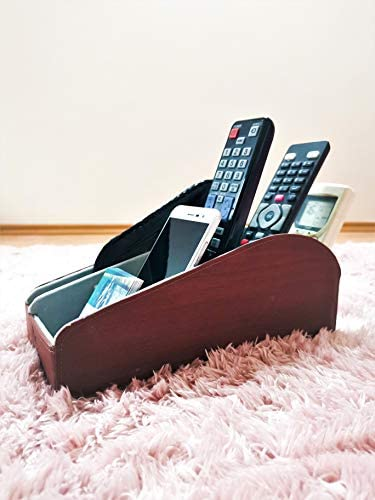 Homeze Leather End Table Organizer Caddy and Remote Control Holder Electronics Desk Multi Device product image