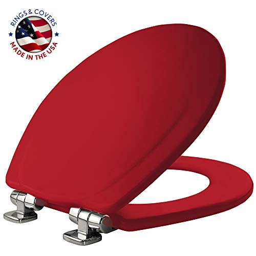 Bemis 30CHSLB 613 Toilet Seats, 1 Pack Round, Red