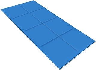 ひんやり敷きパッド 2019年新版 冷感敷きパッド ひんやりクールマット 快適ベッドパッド ひんやりマットシーツ ジェルクールパッド 涼感冷感シーツ 手触り滑らか爽快 敷きパッド 接触冷感 快眠シーツ ブルー 70X140CM