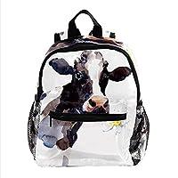 ガールズボーイスクールデイパックアウトドアウォークバッグ用トラベルバックパック牛 印刷されたサックパック