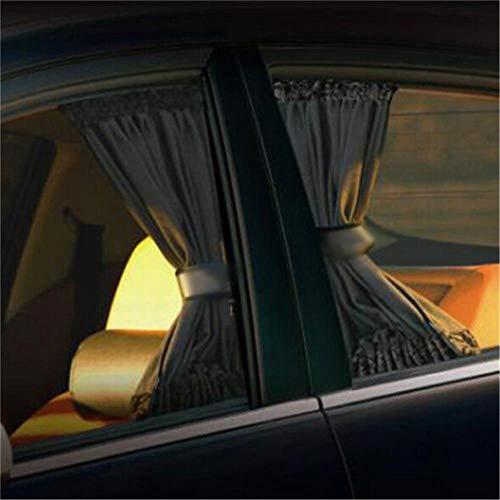 Huien auto zonnescherm uv-bescherming autoruit gordijn autoruit zonnescherm kant anti-uv raam mesh zonneklep zomer raamfolie 2 stuks, zwart