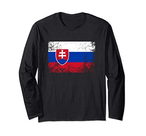 Bandera de eslovaquia - Slovakia Flag Manga Larga