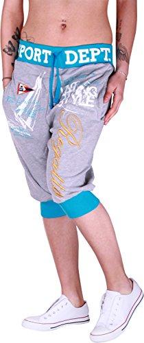 Dames jogging bermuda shorts | korte joggingbroek voor vrouwen | lichte katoenen broek met zakken | korte trainingsbroek met manchetten | vrijetijdsbroek Regatta Strick 568