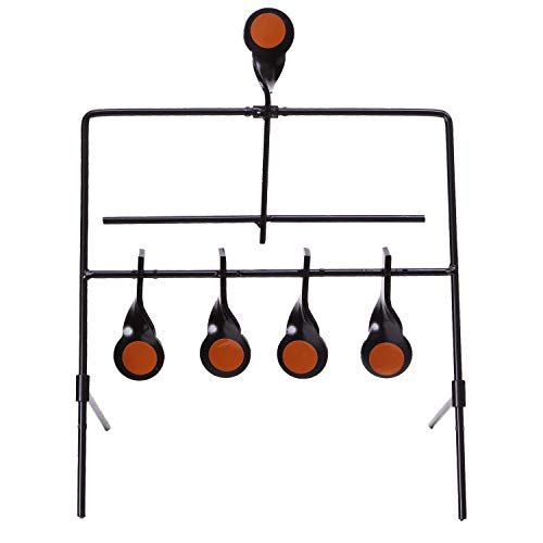 Allen Company Metal Resetting Target  5 Targets 4 Gallery and 1 Resetting Target  Solid Steel  Black