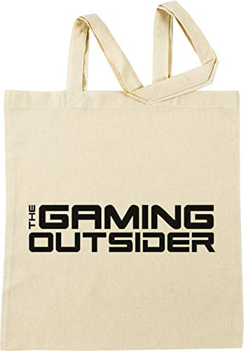 Vendax The Gaming Outsider - Black Text Only T-Shirt - Gaming Outsider Beige Einkaufstasche