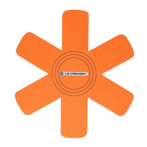Le Creuset Set de 3 protectores de utensilios, Apto para todo tipo de ollas y sartenes, Naranja Volcánico, 95003440090300
